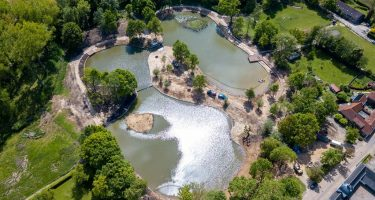 Dronefoto van de Vijver in Nuth-Nierhoeven
